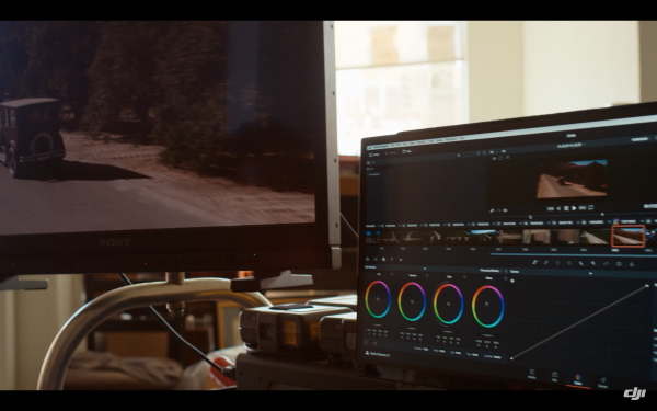 Resolve was used on set to quickly check files and set looks.